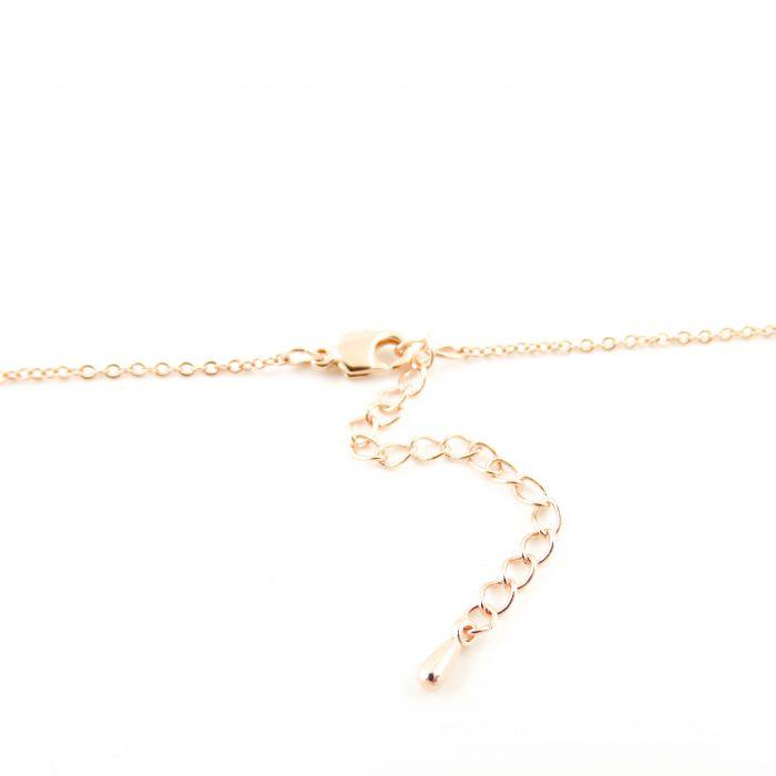 Kettinkje met letter zilver, goud roségoud plated-9664