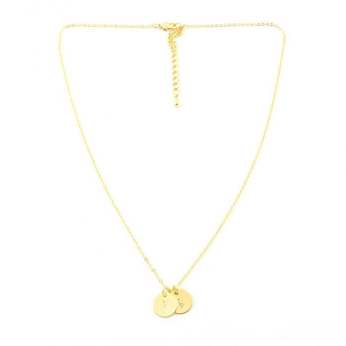 Kettinkje met letter zilver, goud roségoud plated-9663