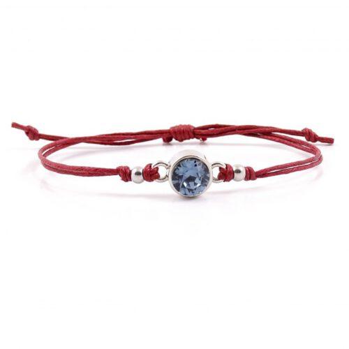armbandje sparkle rood en blauw