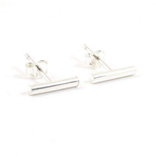 Zilveren minimalistische oorbellen