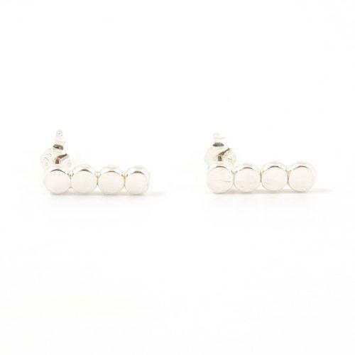 zilveren minimalistische oorbellen 4 dots