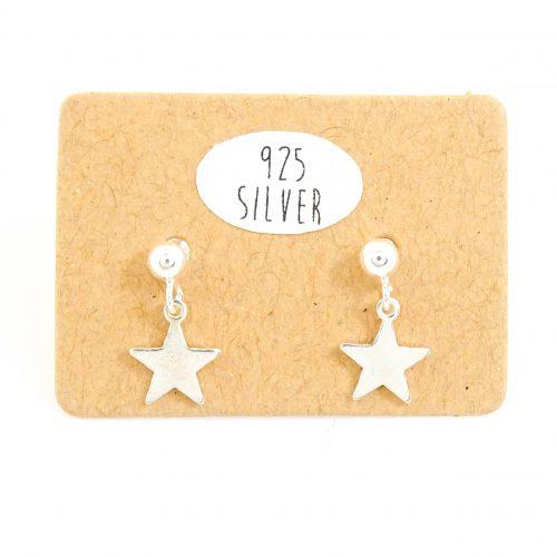 Zilveren oorbellen met ster