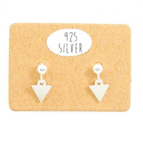 Zilveren minimal oorbellen driehoekje
