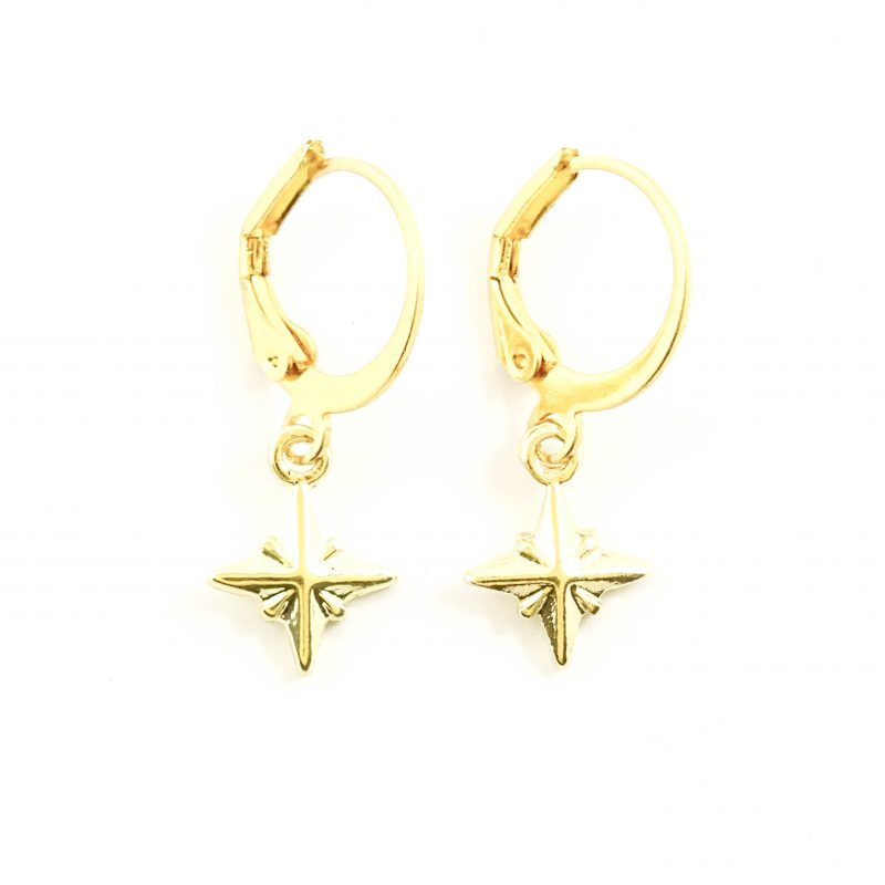 Guiding star oorbellen goud
