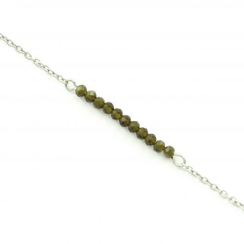 Armbandje met goud obsidiaan edelsteen - Stainless steel-0