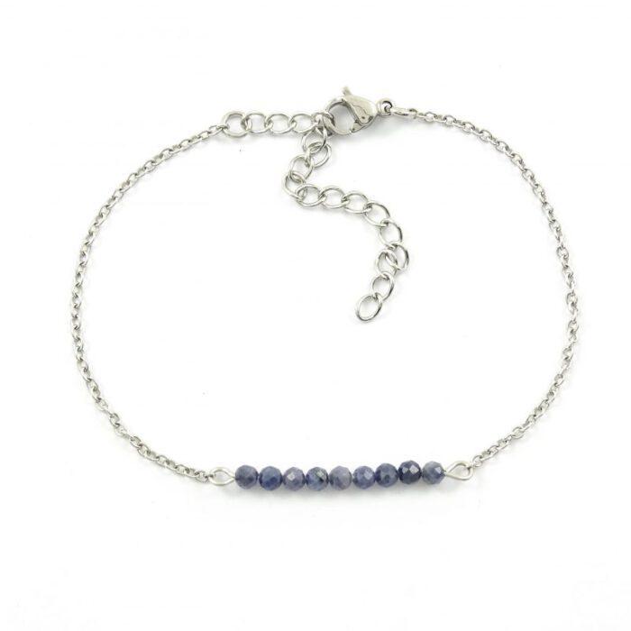 Armbandje met saffier edelsteen - Stainless steel-9801