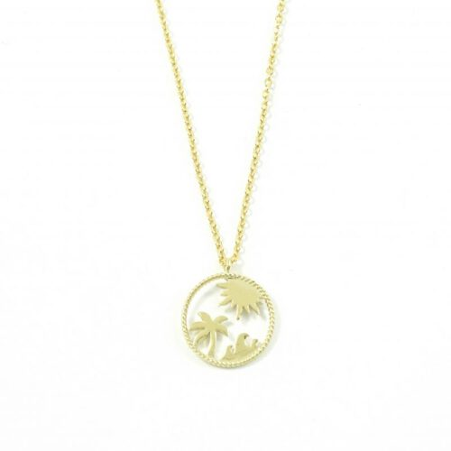 Ketting 'Tropical beach' goud