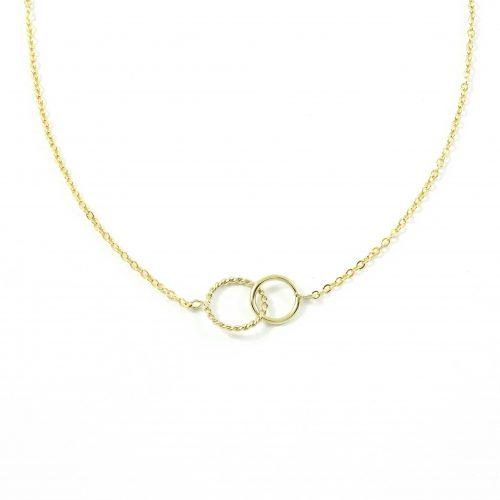 Inner circle ketting goud