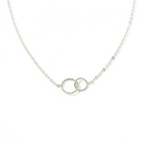 Inner circle ketting zilver
