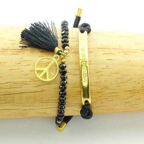 Setje armbandjes imagine goud