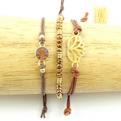 Armbandjes lovely lotus gold