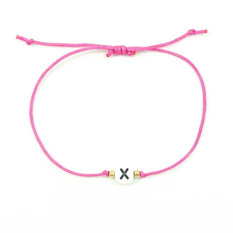 Mix & match letter / naam armbandje (20 kleuren)-9872