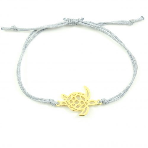 Armbandje schildpad goud stainless steel-0