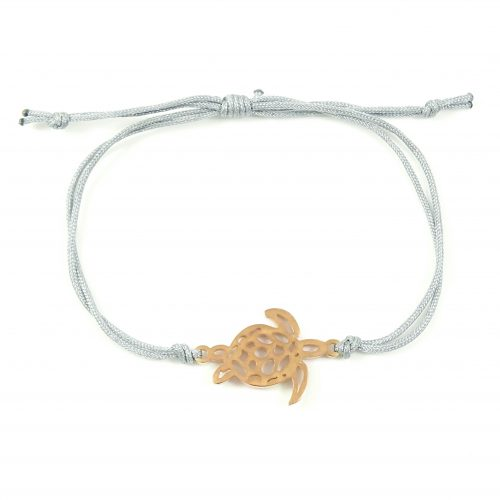 Armbandje schildpad rose goud stainless steel-0