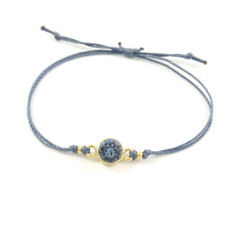 'Casual sparkle' denim blue armbandje