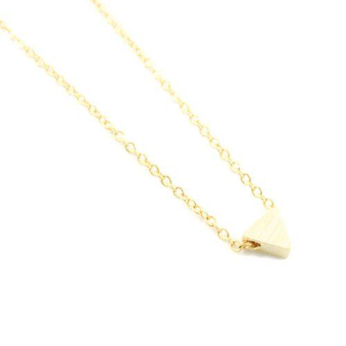 Ketting met driehoekje goud