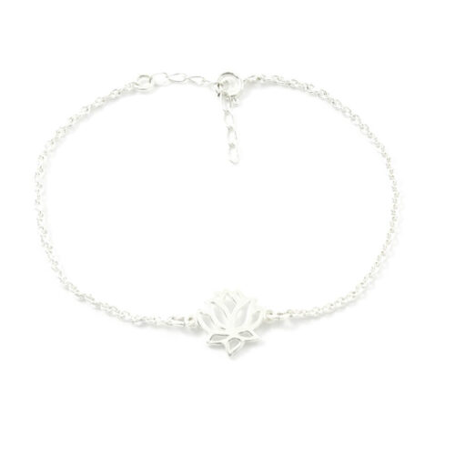 Lotus armbandje 925 zilver
