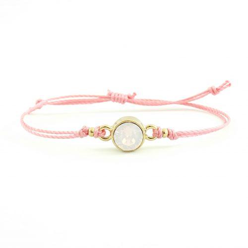 Roze en goud armbandje