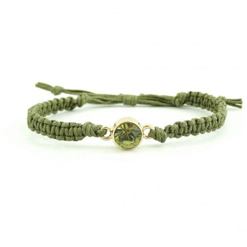 Geknoopt armbandje army green