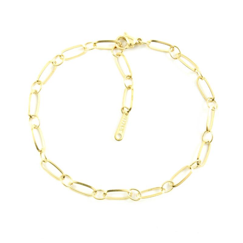 Basis armbandje zilver of goud staal