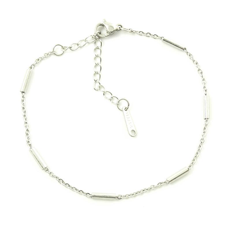 Minimal basic armbandje zilver of goud staal