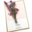 Wenskaart dankjewel bedankt merci droogbloemen gedroogde bloem kaart
