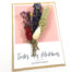 Wenskaart droogbloemen gedroogde bloem toutes mes felicitations