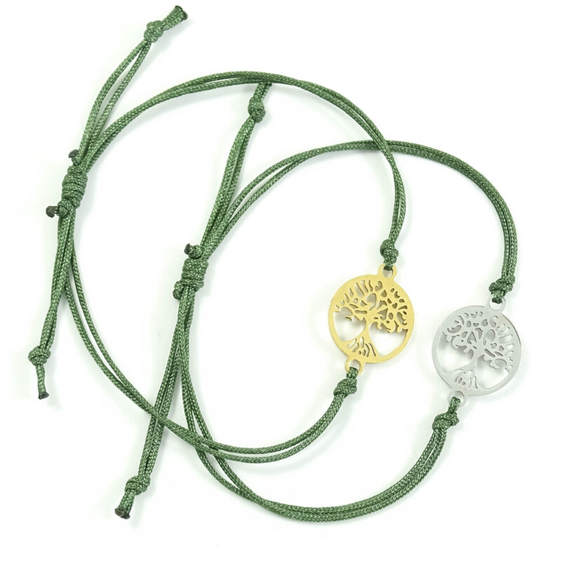 Armbandje levensboom zilver of goud staal tree of life armband