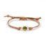 Leren armband 'sparkle' army green silver