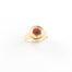 Ring met droogbloemen goud stainless steel - 1.1