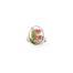 Ring met droogbloemen zilver stainless steel - 4.1