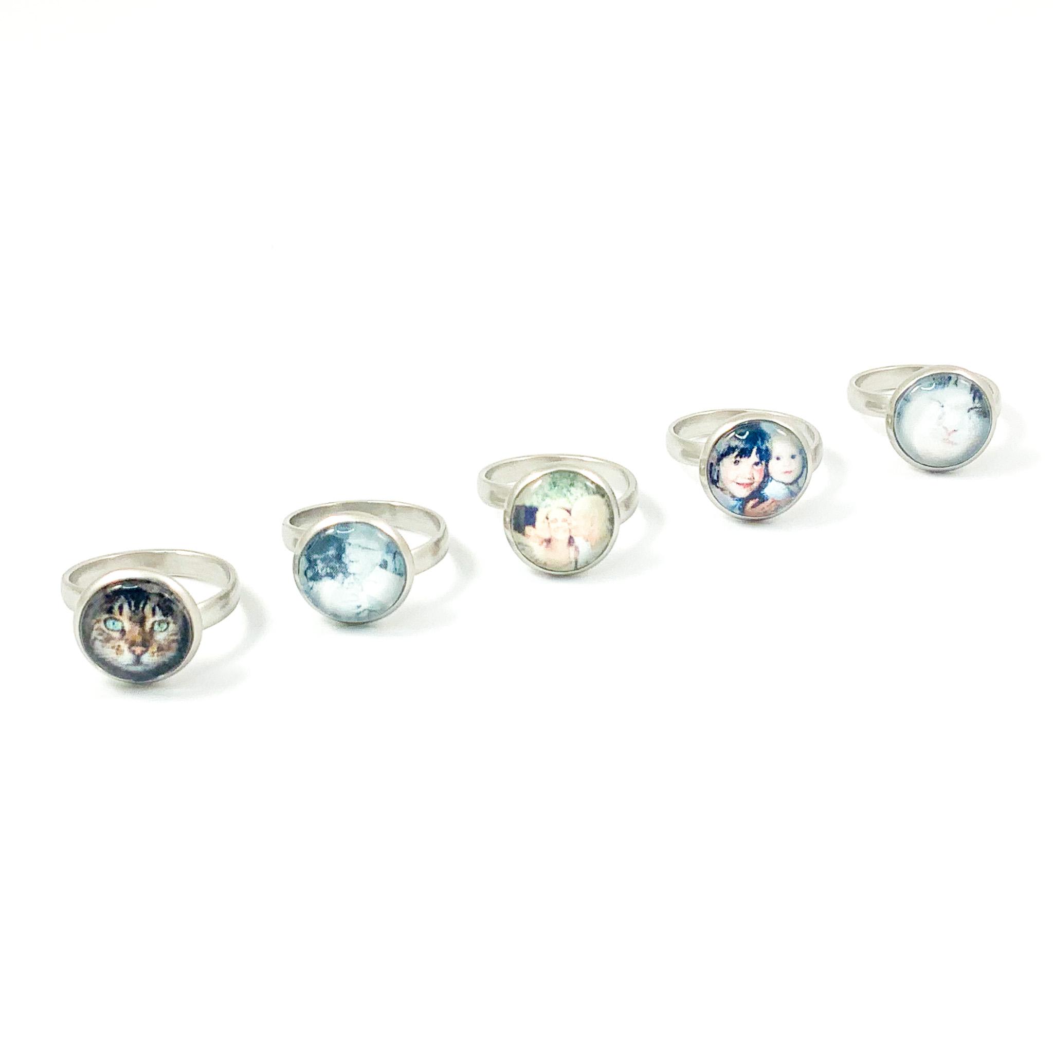 Ring met foto rond sieraden ring sype 2 stainless steel rond