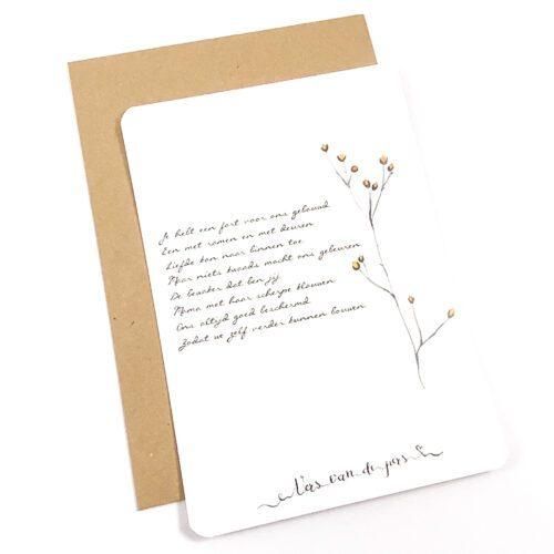 Wenskaart met gedicht Moeder