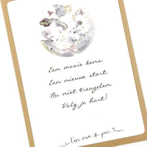Wenskaart met gedicht Nieuwe start