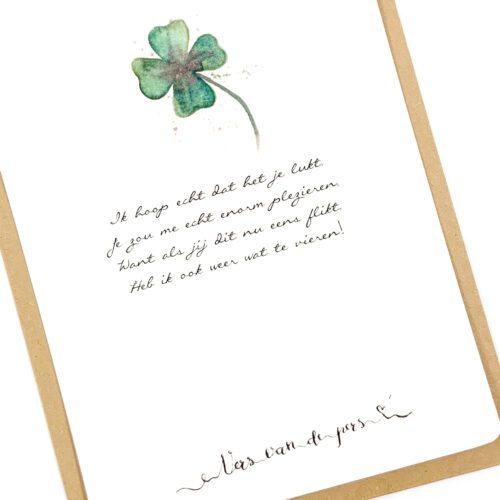 Wenskaart met gedicht Succes