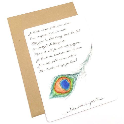 Wenskaart met gedicht Trots