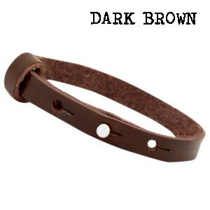 dark bruin armband leer donker bruin leren armband