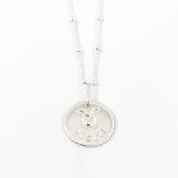 Ketting met naam en sterrenbeeld 925 zilver