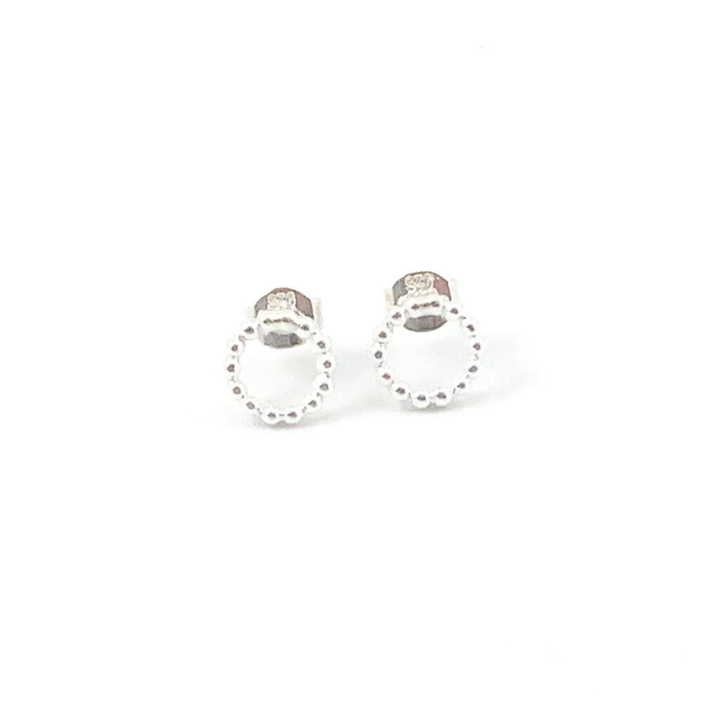 Zilveren minimalistische oorbellen tiny circle 925 zilver