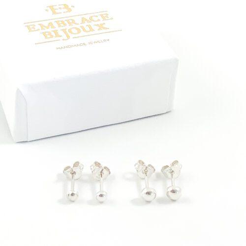Oorbellen 'basic dots' - 925 zilver
