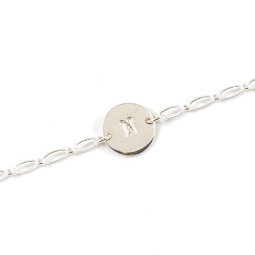 Armbandje met initiaal 925 zilver - zilveren armbandje met letter