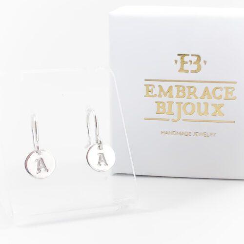 Initiaal oorbellen 925 zilver zilveren oorbellen met letters