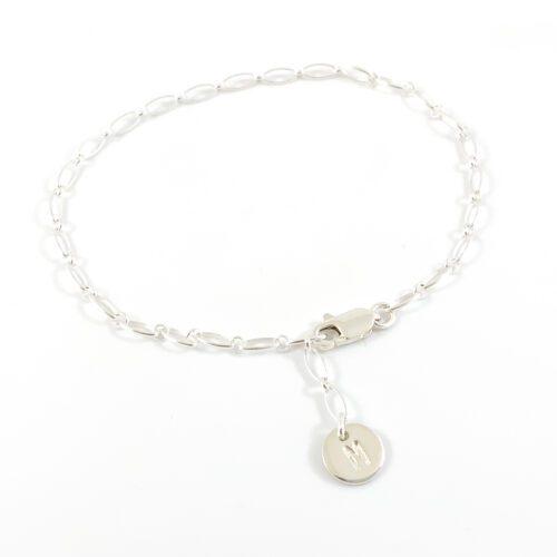Letter armbandje 925 zilver zilveren armband met letter initiaal
